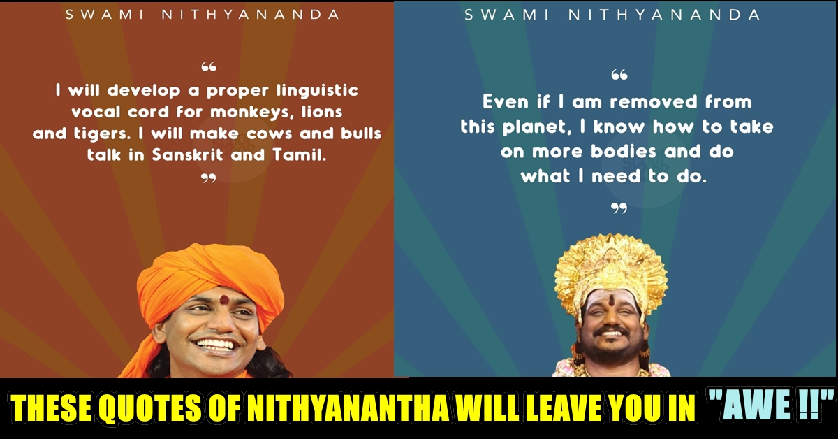 10 Quotes Of Swami Nithyanantha Which Is Will Shock You