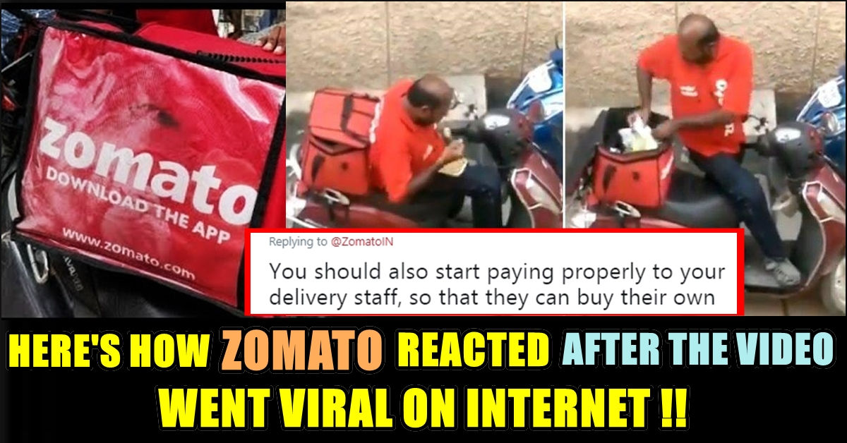 Zomato\u0027s Reaction After The Viral Video Of Delivery Guy Eating The  Customer\u0027s Food !! People Not Convinced !!